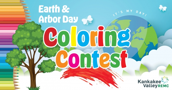 It's A Contest-Celebrate Earth Day & Arbor Day with a coloring contest